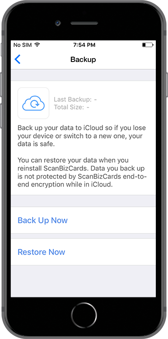 How will I back-up my contacts? – CircleBack Support Center